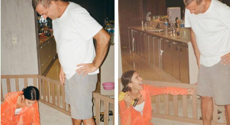 Bruna Marquezine parabenizou o pai pelo aniversário, nesta quinta-feira (15)