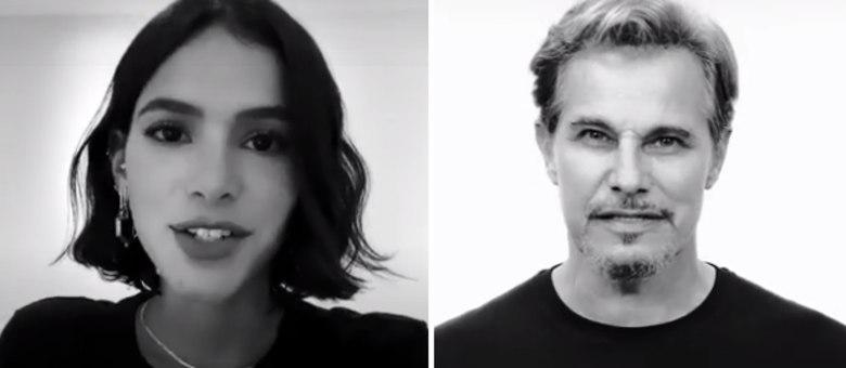 Bruna Marquezine e Edson Celulari estão na campanha Ao Vivo Pela Vida