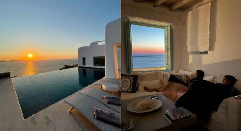 Depois de Atenas, Bruna foi para a paradisíacaMykonos, também na Grécia. E que tal essa vista do local onde ela ficou hospedada com amigas?