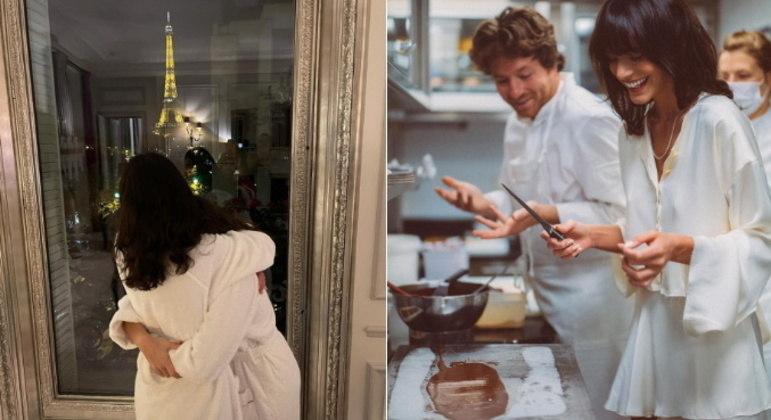 Depois da passagem pela Grécia, Bruna foi para Paris, na França, celebrar o aniversário da irmã, Luana Marquezine, que completou 18 anos. Ao lado dos pais, elas se hospedaram no famoso hotelPlaza Athénée, na região de Champs-Elysées. As diárias no local podem chegar a cerca de R$ 40 mil reais nos quartos mais caros