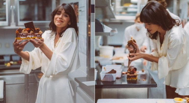 No aniversário da irmã, Bruna se juntou ao estrelado chef de cozinha Jean Imbert para preparar uma sobremesa para Luana.
