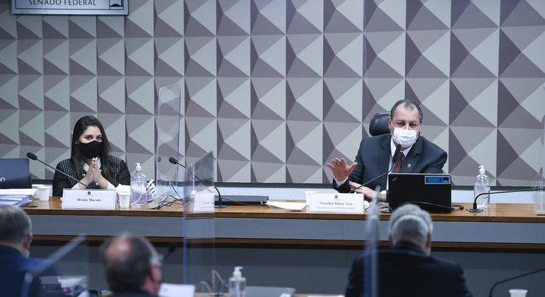 Advogada Bruna Morato presta depoimento à CPI da Covid-19, no Senado