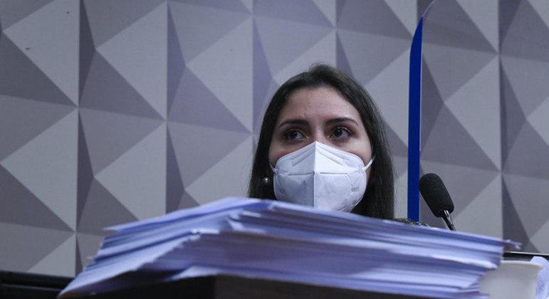 Bruna Morato, advogada de 12 médicos da Prevent Senior, presta depoimento à CPI da Covid-19