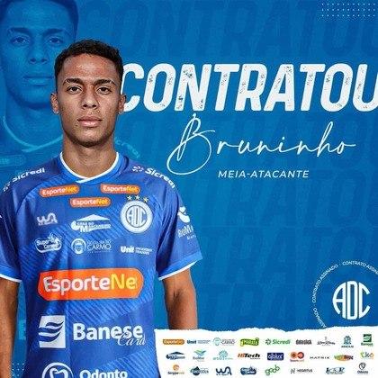 Bruninho: meia-atacante novamente vinculado ao Atlético-MG (estava no Sport e foi emprestado ao Confiança nesta segunda-feira)