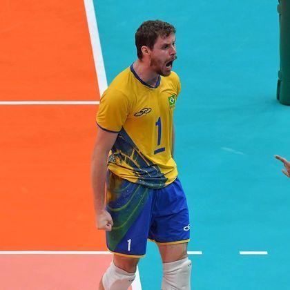 Bruninho, levantador da seleção brasileira masculina de vôlei, tem um ouro e duas pratas - 1.110.424 seguidores