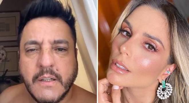 Bruno deixou Flávia constrangida durante live