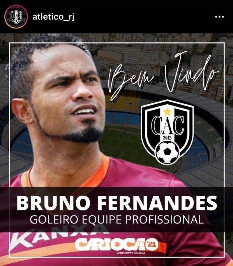 Bruno anunciado como goleiro do Atlético Carioca