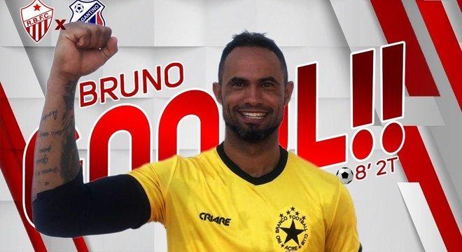 Rio Branco celebra Bruno por seu gol de pênalti. Internet revoltada