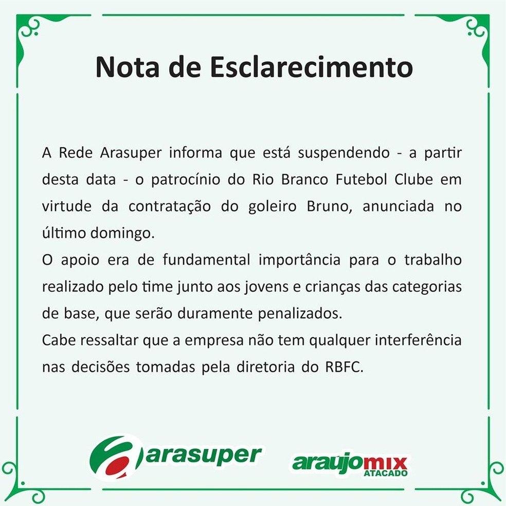 Contratação de Bruno prejudica 90 garotos da base do Rio Branco