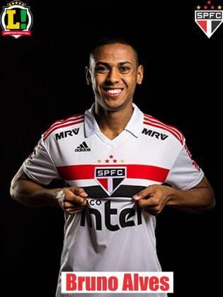 Bruno Alves - 4,5 - Mais uma atuação muito fraca de um defensor do São Paulo. Bruno perdeu os dois duelos que disputou pelo chão e não desarmou nenhuma vez. Errou muito em momentos de transição defensiva, causando problemas para a defesa do São Paulo.