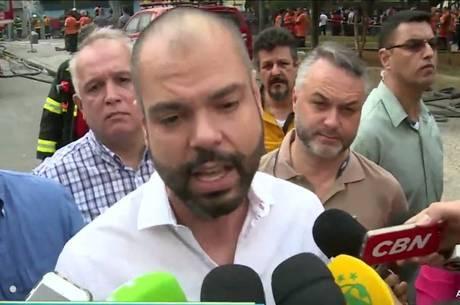 Bruno Covas fala sobre incêndio em SP
