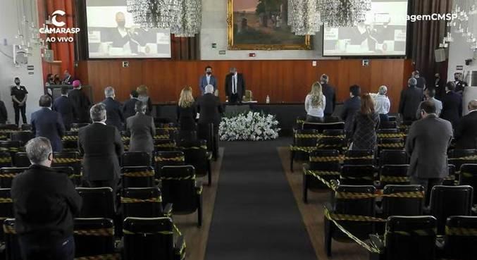 Ato ocorreu no Salão Nobre Presidente João Brasil Vita, na Câmara de SP
