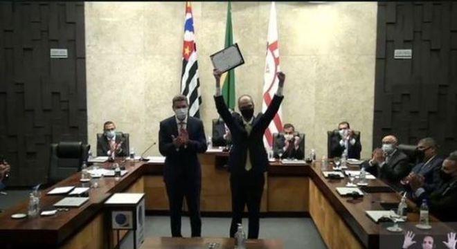 TRE-SP entrega diplomas a Covas e aos vereadores eleitos em 2020