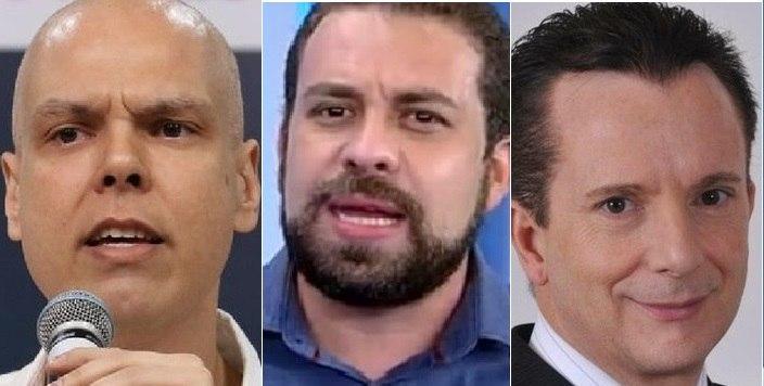 Bruno Covas (PSDB), Guilherme Boulos (PSOL) e Celso Russomanno (Republicanos)