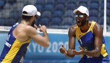 Evandro e Bruno Schmidt vencem chilenos na estreia do vôlei de praia
