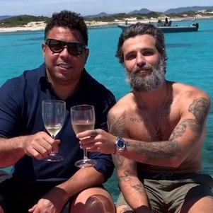 Ronaldo e Gagliasso na Espanha