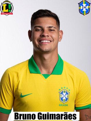 Bruno Guimarães - 5,0 - Foi pouco acionado, mas não comprometeu a equipe.