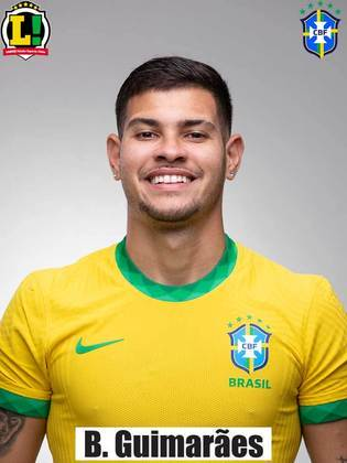 Bruno Guimarães - 5,0 - Não conseguiu dar dinamismo ao meio-campo e ficou comprometido na partida com um amarelo no final do primeiro tempo. Saiu no intervalo.