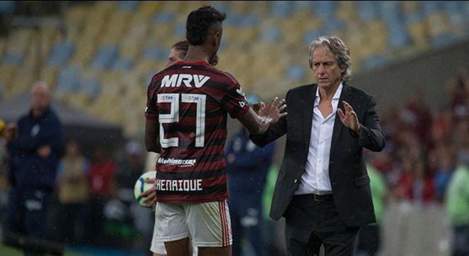 Bruno Henrique e Jorge Jesus. Nenhum técnico aprimorou tanto o atacante
