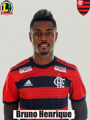 Bruno Henrique - 5,5 - Poupado da ida, Bruno Henrique tinha os principais holofotes sobre sobre si, sobretudo por ser considerado o