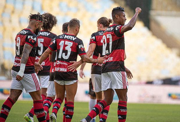 Bruno Henrique marcou os dois gols do Flamengo na vitória sobre o Volta Redonda por 2 a 0, que classificou o time para a final da Taça Rio. O atacante agora tem 43 gols com a camisa rubro-negra, mesmo número alcançado por Guerrero, porém, com menos jogos que o peruano. Os dois dividem a 8ª posição no ranking de artilheiros do Flamengo neste século