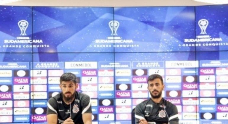 Bruno Méndez e Camacho - Coletiva Corinthians