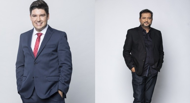 Bruno Peruka e Geraldo Luís são os apresentadores do Balanço Geral Manhã