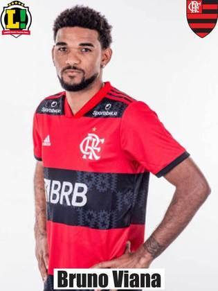 BRUNO VIANA - 7,5 - Passou por um teste de fogo dias depois de uma atuação ruim contra o Ceará. Além de ter feito bem a cobertura de Filipe Luís, ainda foi ao ataque marcar o importante gol da vitória - o seu primeiro no Flamengo.