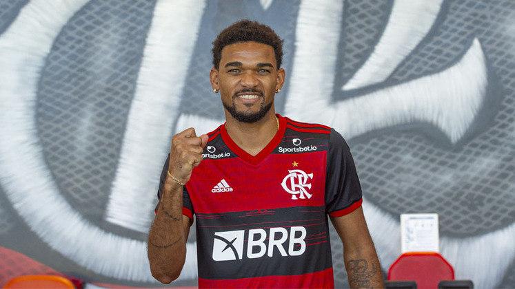 Bruno Viana - Clube: Flamengo - Posição: Zagueiro - Idade: 26 anos - Jogos completados no Brasileirão 2021: 0 jogos - Situação no clube: Reserva com poucas oportunidades
