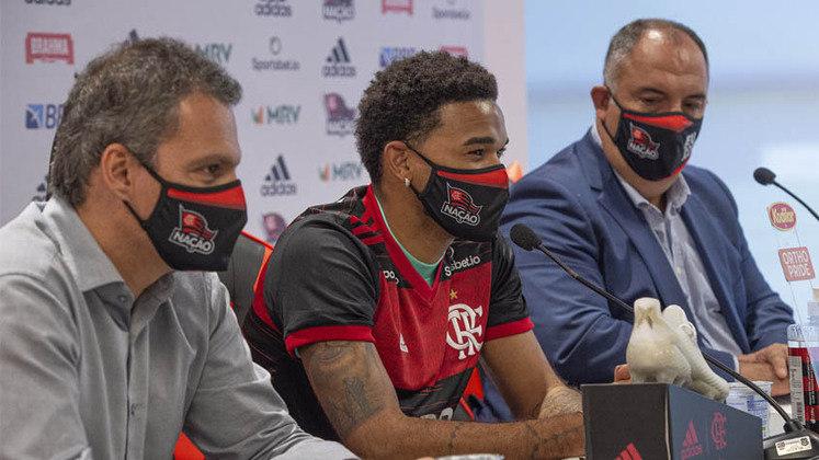 Bruno Viana - Clube: Flamengo - Posição: zagueiro - Idade: 26 anos - Jogos no Brasileirão 2021: 2 - Situação no clube: concorrência na posição e não conseguiu se firmar.