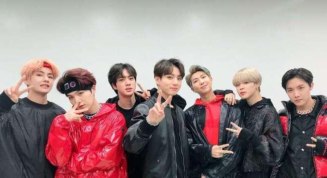 A banda BTS faz sucesso no mundo todo