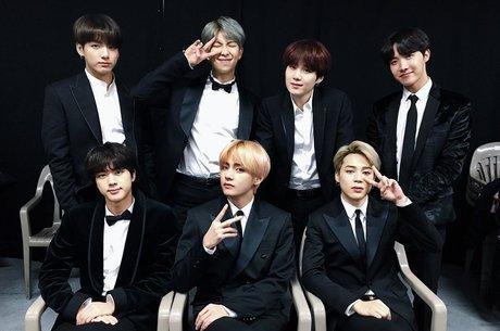 Os meninos do BTS, grupo de k-pop mais conhecido