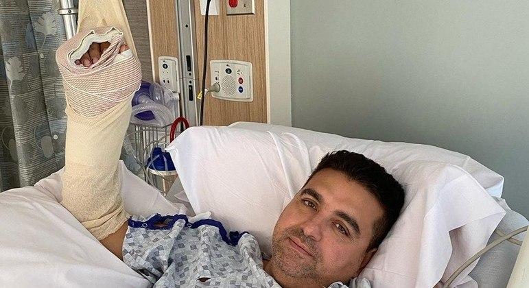 Buddy logo após o acidente