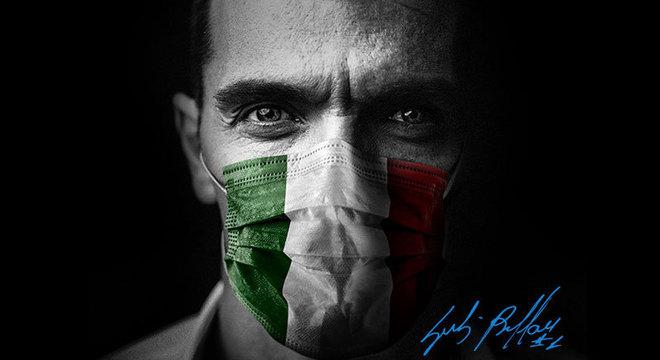 Buffon, na campanha #beyondthemask