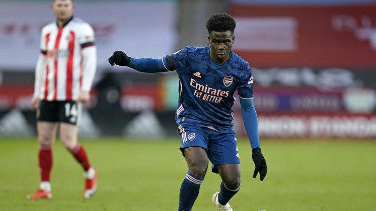 Bukayo Saka (19 anos) - Posição: meia - Clube: Arsenal.