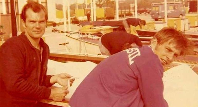 Burkhard Cordes e Reinaldo Conrad nos Jogos da Cidade do México/1968