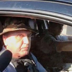 Secretário de Segurança de Goiás, Rodney Miranda, está no local de buscas