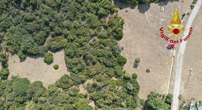 Imagem aérea mostra local de buscas pelo menino, desaparecido desde 3 de agosto