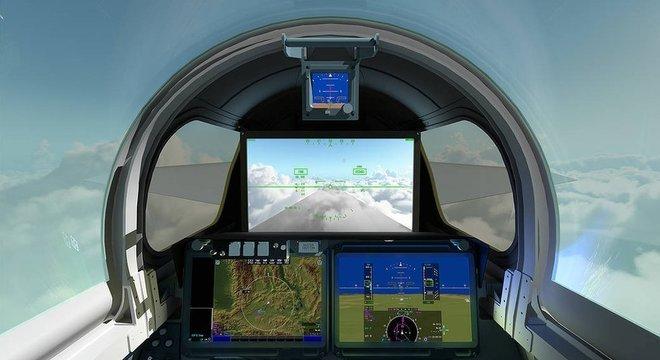A frente comprida torna difícil pilotar o X-59