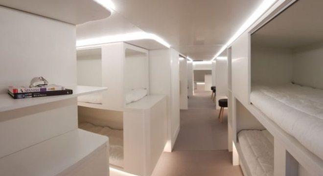 Airbus está considerando construir cápsulas para dormir na área de carga do avião
