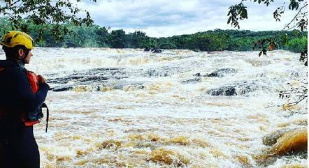 Vítima foi levada pela correnteza do rio Lambari