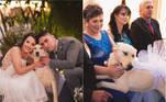 Uma cachorrinha para lá de simpática roubou a cena durante o casamento da filha de Margarida Schikorski, em Fraiburgo, Santa Catarina, e se tornou a estrela das fotos da cerimônia