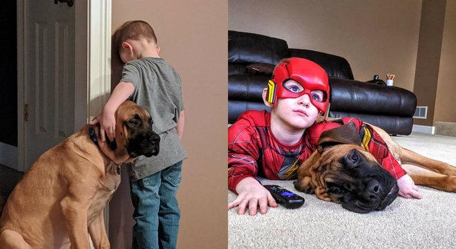 Dash se recusou a sair do lado do melhor amigo mesmo no castigo