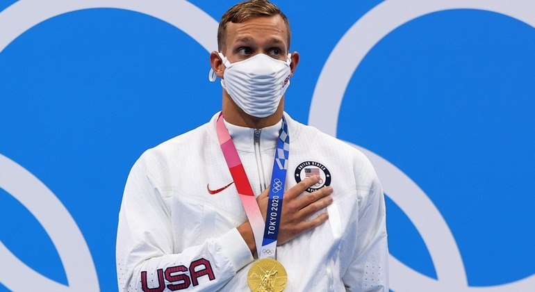 Caeleb Dressel, substituto de Phelps em Tóquio, tem três medalhas de ouro até aqui