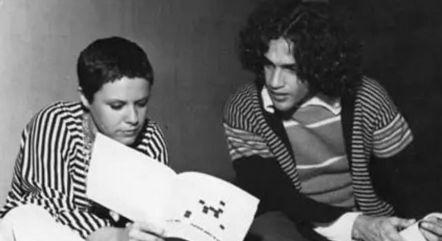 Elis e Caetano em foto antiga