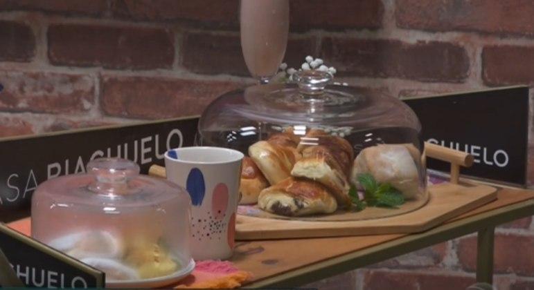 Mesa foi composta por deliciosos croissants patrocinados pela Riachuelo