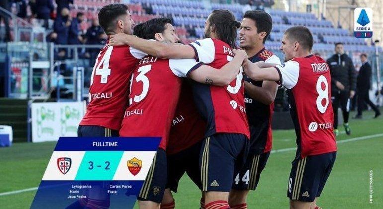 Cagliari, um sucesso fundamental diante da Roma