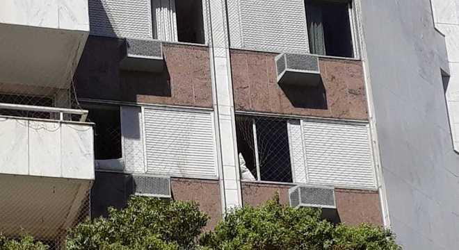 Rede de proteção da janela foi cortada