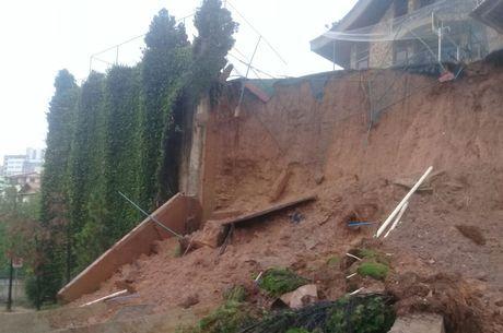 Segundo a Defesa Civil, queda de muro não deixou feridos