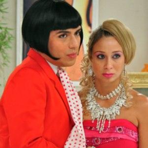 Caike e Katiuscia em programa de humor na TV Globo